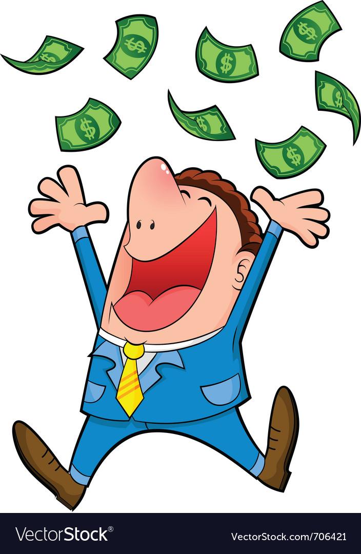 Raining money vector | Price: 3 Credit (USD $3)