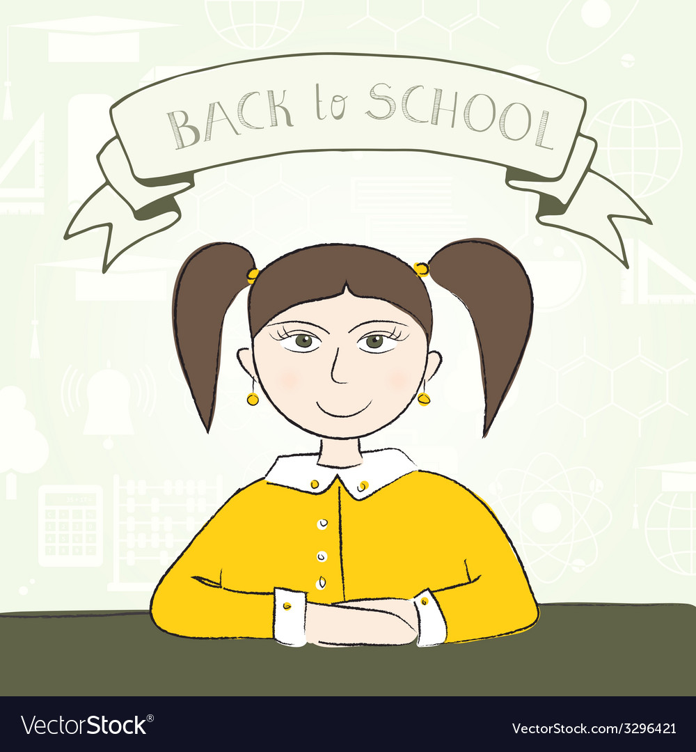 School student vector | Price: 1 Credit (USD $1)