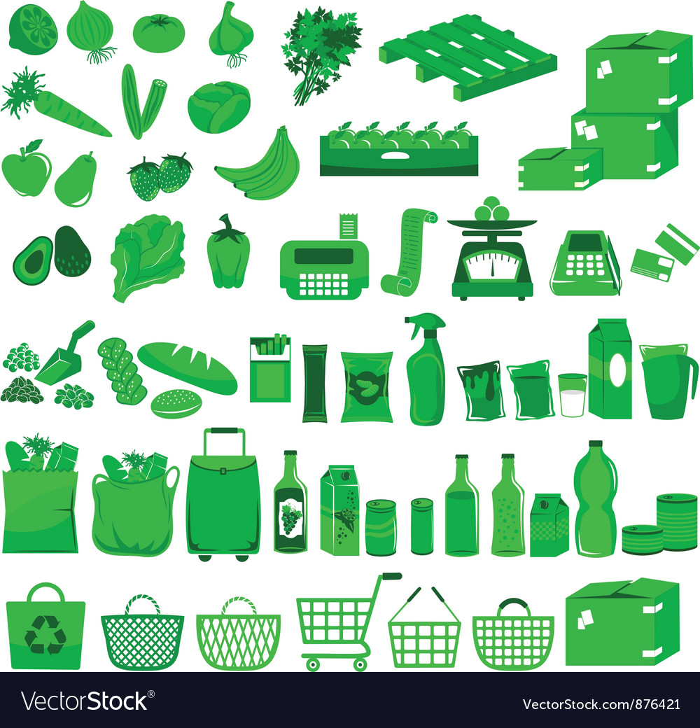 Supermarket icons vector | Price: 3 Credit (USD $3)