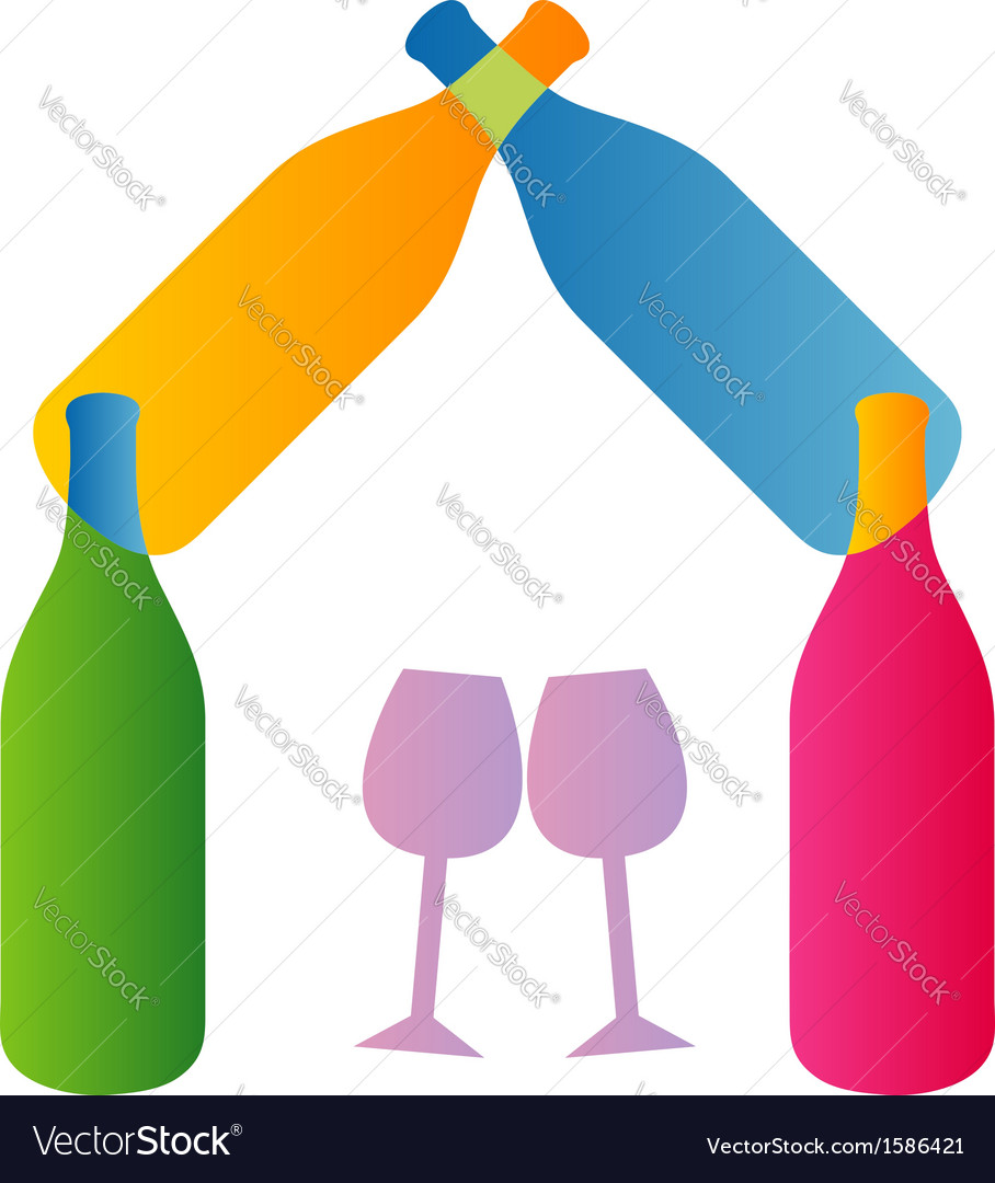Wine and house logo vector   Price: 1 Credit (USD $1)