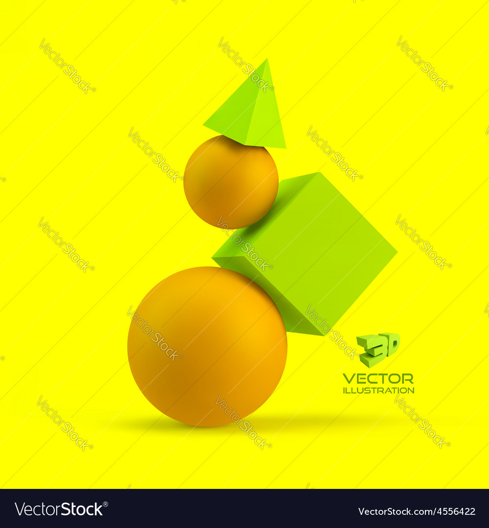 3d geometrical composition vector | Price: 1 Credit (USD $1)