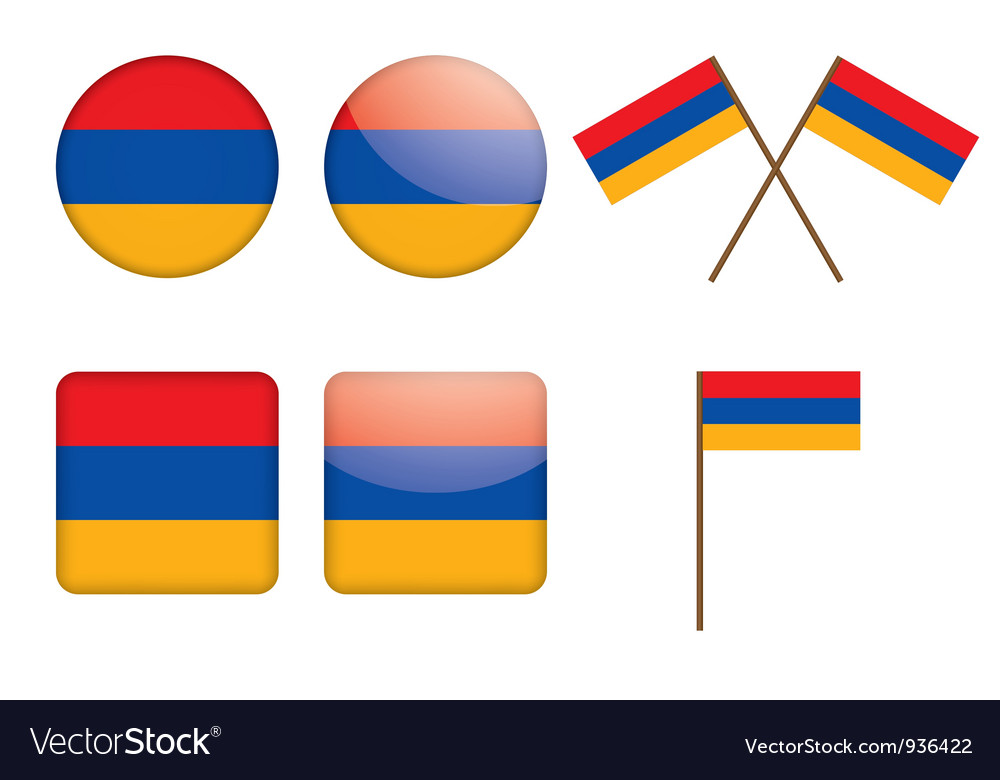 Badges with flag of armenia vector | Price: 1 Credit (USD $1)