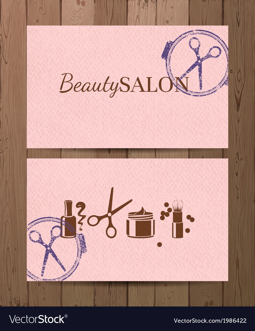 Beauty salon cards vector | Price: 1 Credit (USD $1)