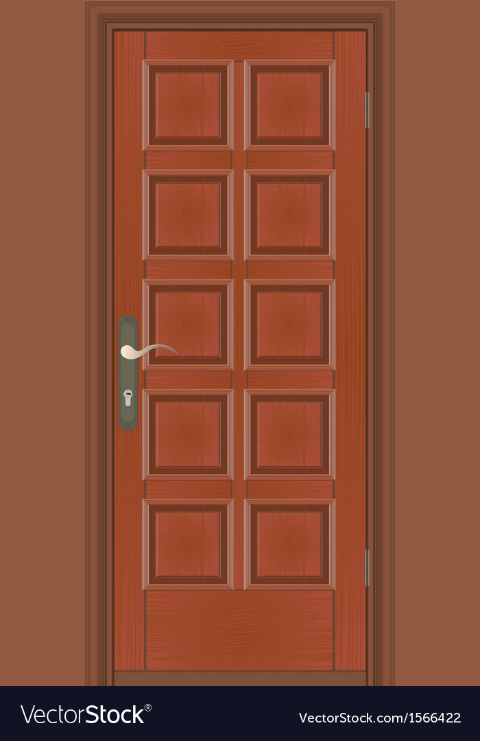 Closed door vector | Price: 1 Credit (USD $1)