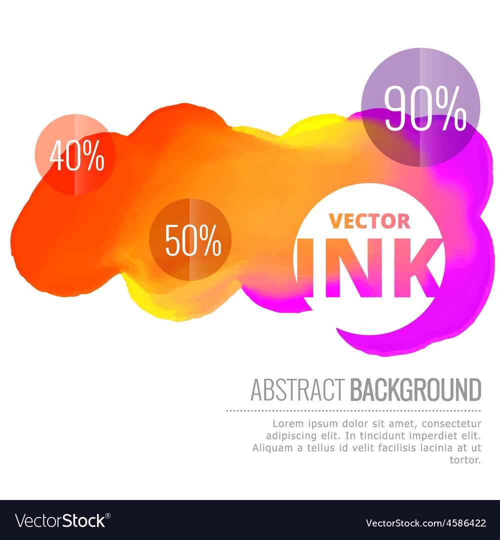 Colorful ink splash flowing design background vector   Price: 1 Credit (USD $1)
