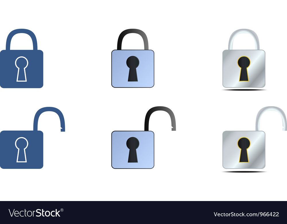 Lock icons set vector | Price: 1 Credit (USD $1)
