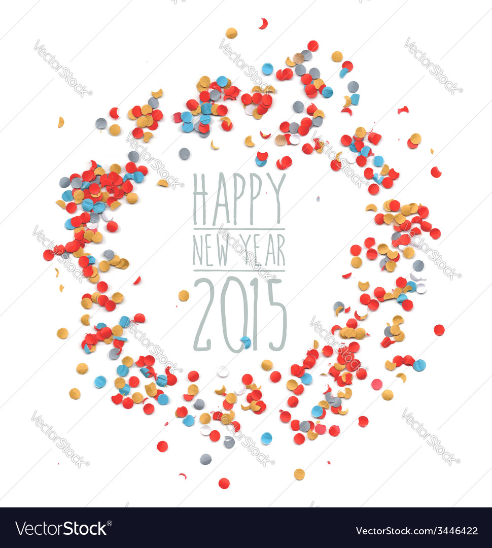 New year 2015 confetti celebration vector | Price: 1 Credit (USD $1)