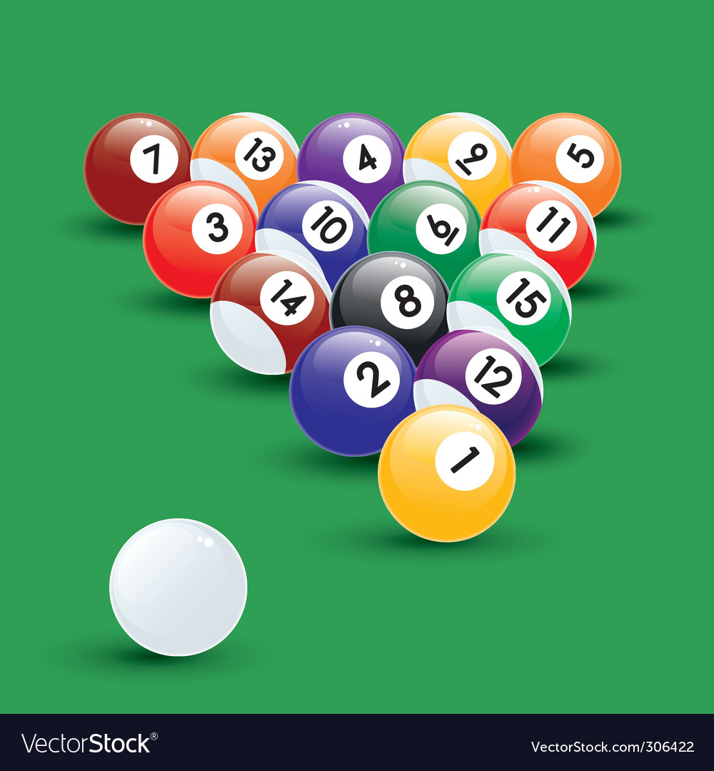 Pool balls illustration vector | Price: 1 Credit (USD $1)
