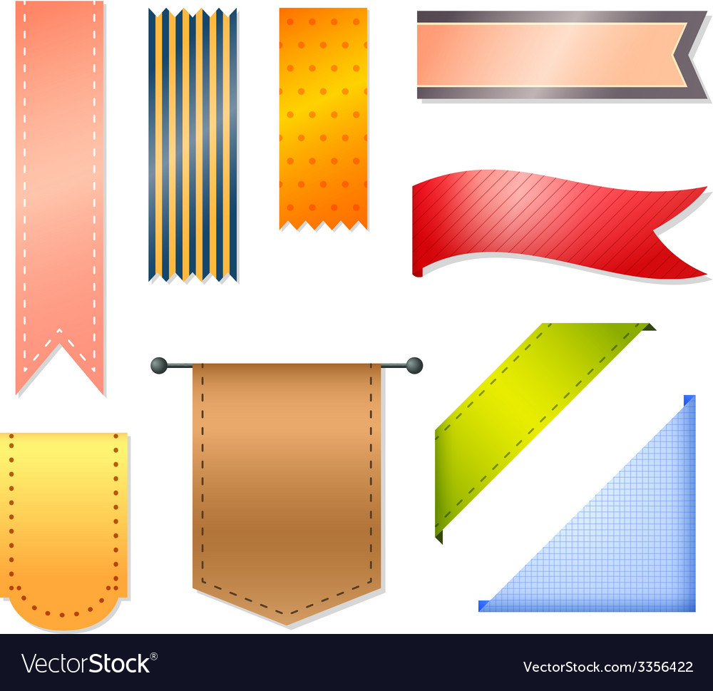 Ribbons and labels vector | Price: 1 Credit (USD $1)