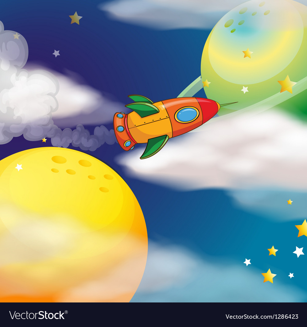 A spaceship at the space vector | Price: 1 Credit (USD $1)