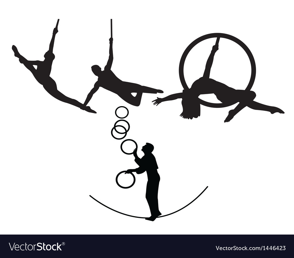 Circus trapeze artists vector | Price: 1 Credit (USD $1)
