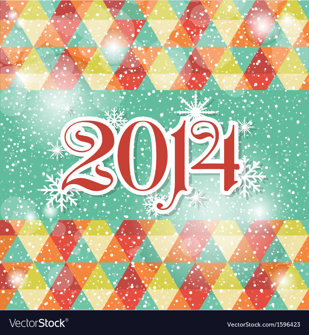 Happy new year 2014 celebration greeting card vector | Price: 1 Credit (USD $1)