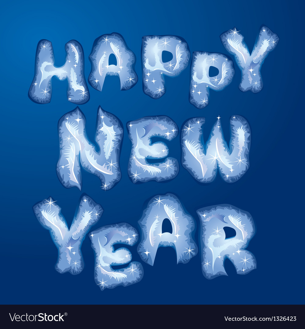 Happy new year 380 vector | Price: 1 Credit (USD $1)