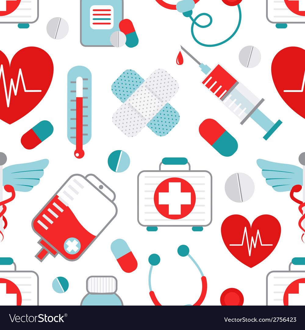 Medicine seamless pattern vector | Price: 1 Credit (USD $1)