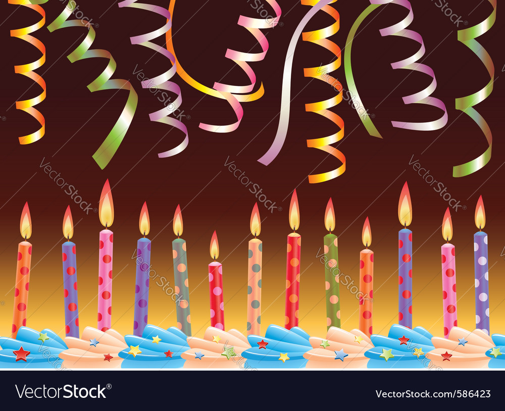 Row of birthday candles vector | Price: 1 Credit (USD $1)