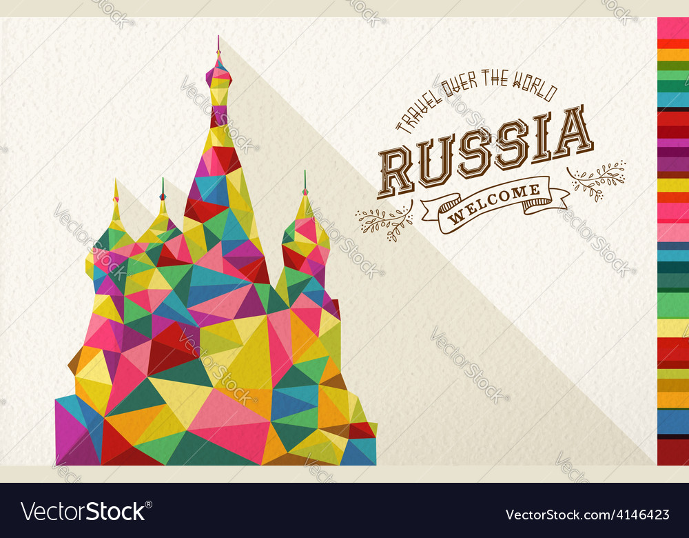 Travel russia landmark polygonal monument vector | Price: 1 Credit (USD $1)