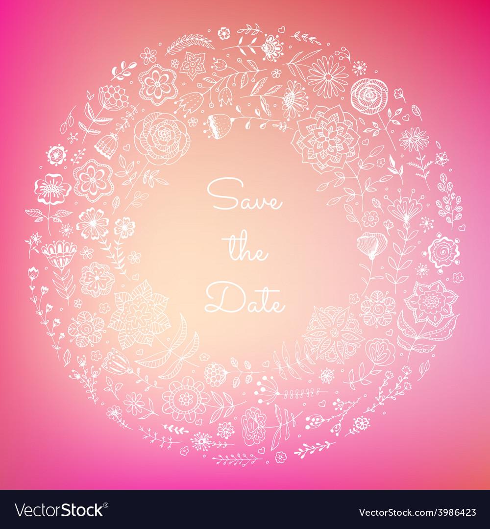 Wedding floral background vector | Price: 1 Credit (USD $1)