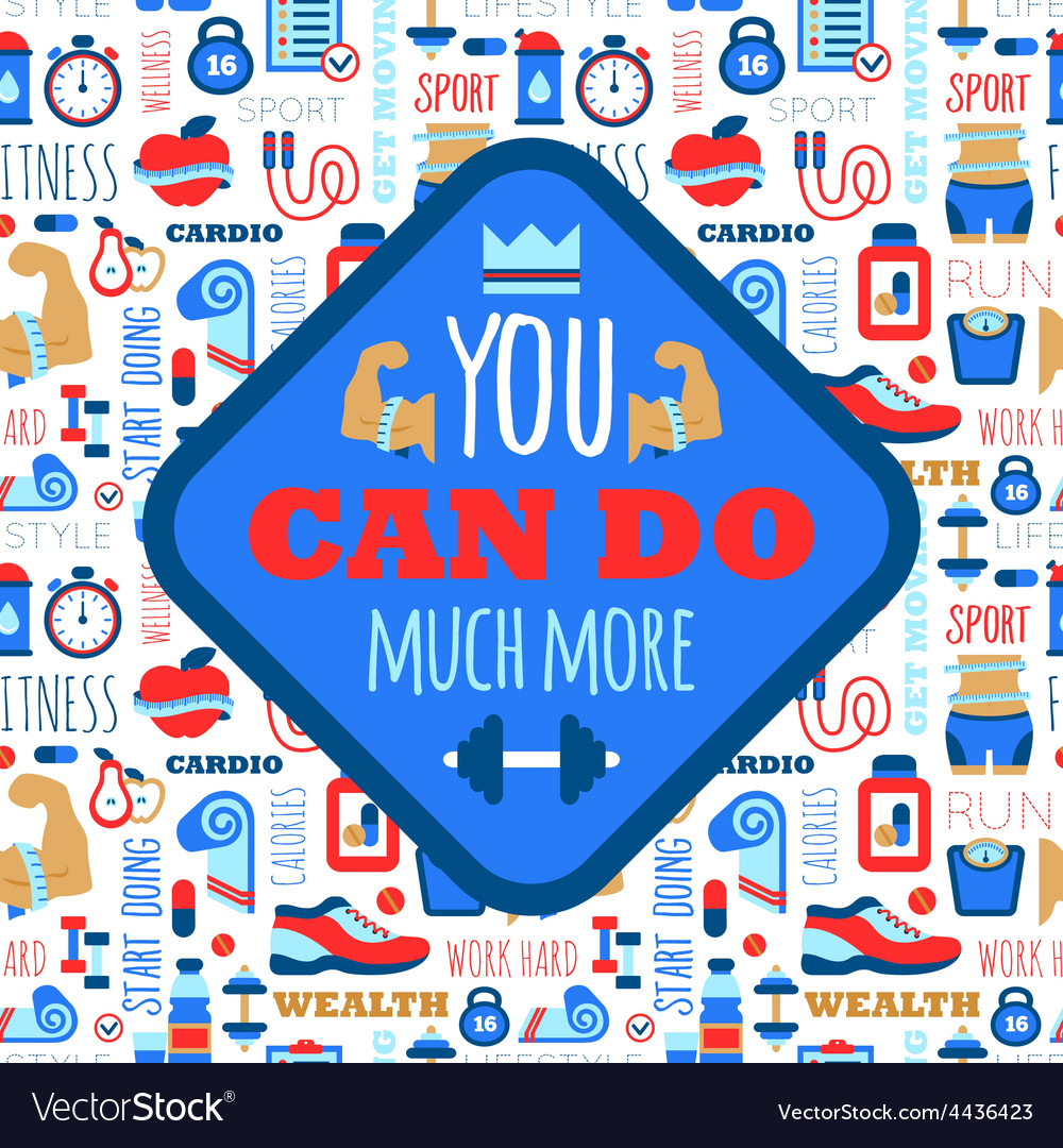 You can do much more phrase on fitness seamless vector | Price: 1 Credit (USD $1)