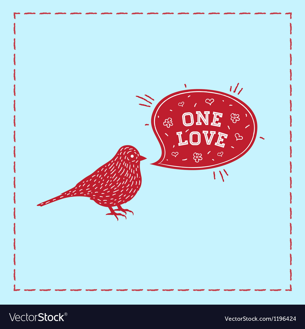 Birds one love vector | Price: 1 Credit (USD $1)