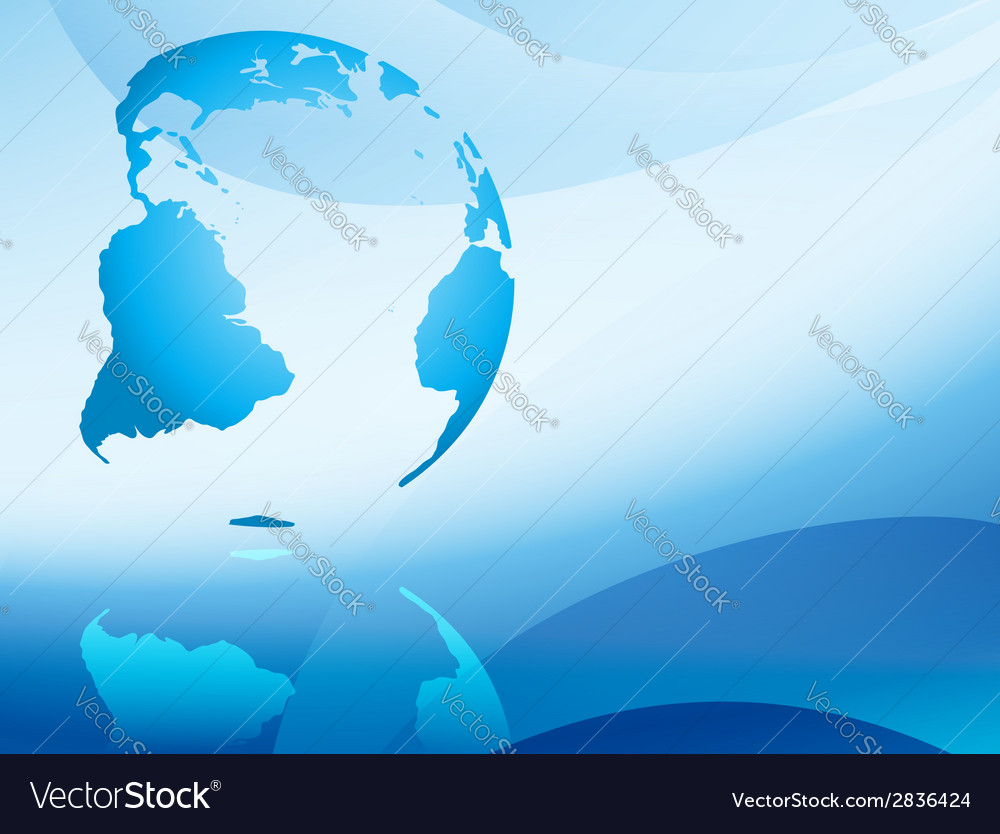 Blue abstract background with continents vector | Price: 1 Credit (USD $1)