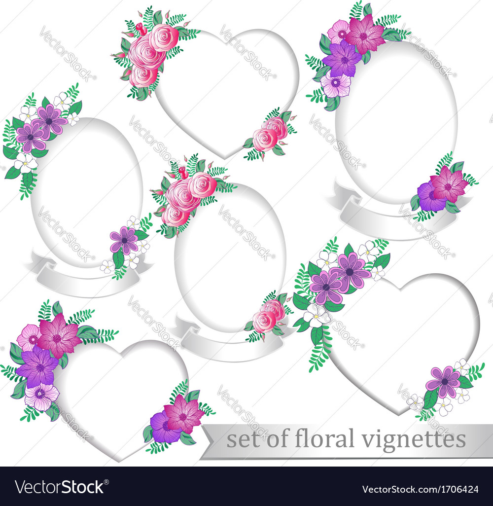 Frames with flowers vector | Price: 1 Credit (USD $1)