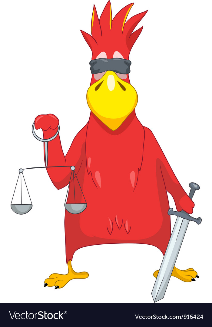 Funny parrot law vector | Price: 1 Credit (USD $1)