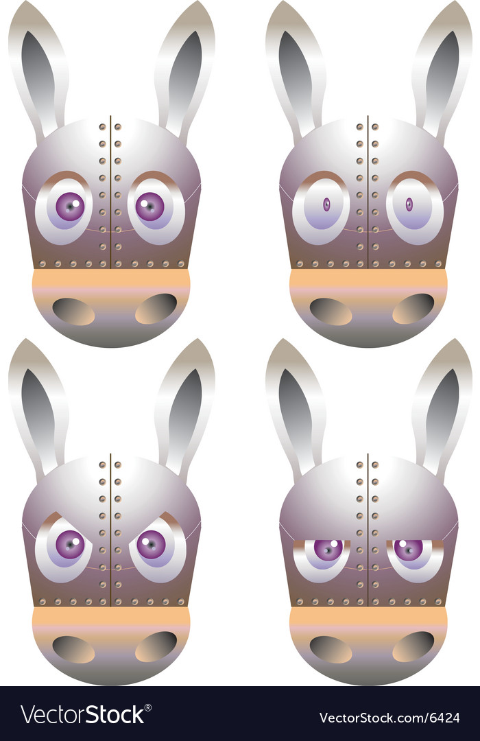 Robot donkey vector | Price: 3 Credit (USD $3)