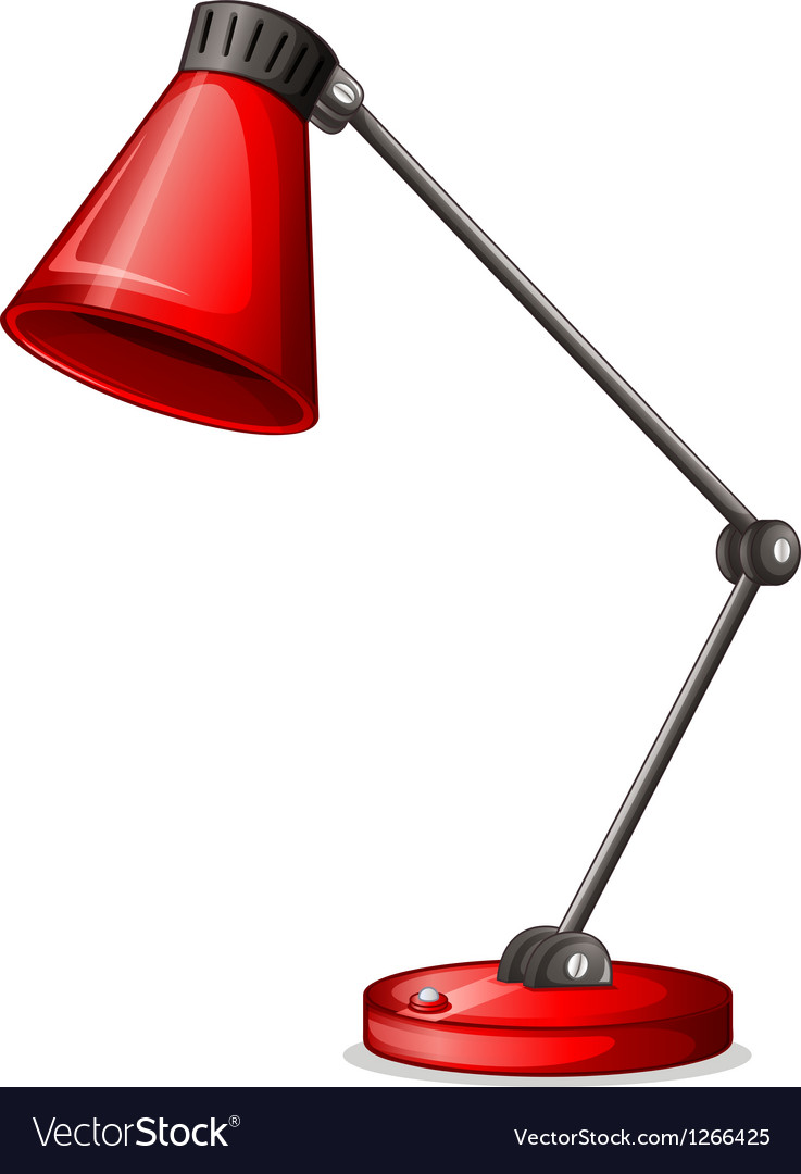 A red desk lampshade vector | Price: 1 Credit (USD $1)
