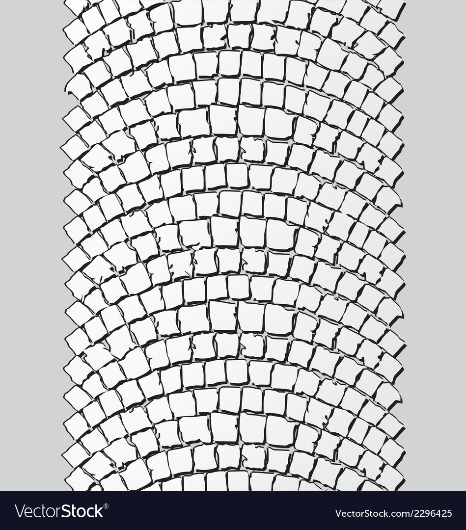 Brick stone trackway vector | Price: 1 Credit (USD $1)