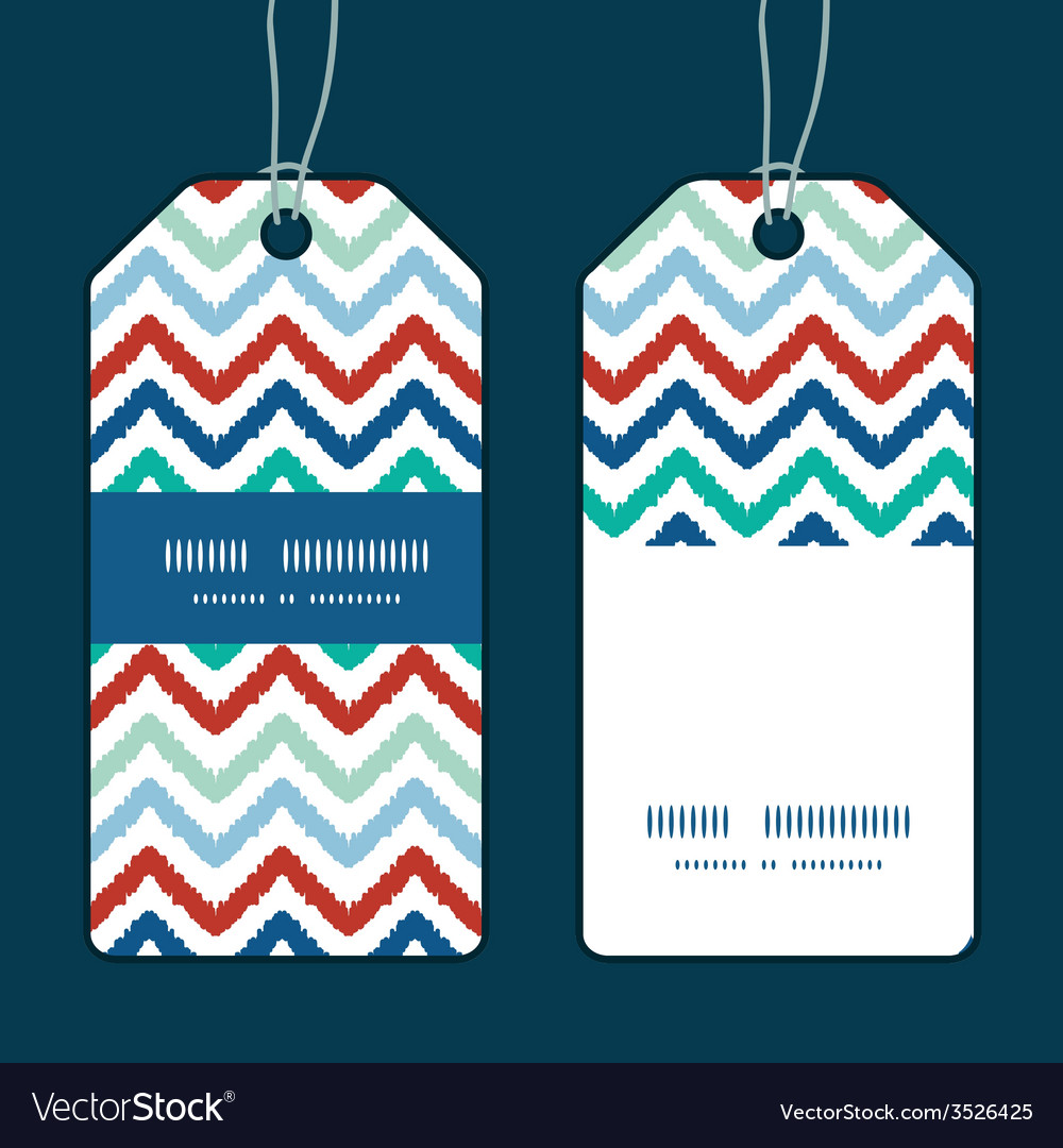 Colorful ikat chevron vertical stripe frame vector | Price: 1 Credit (USD $1)
