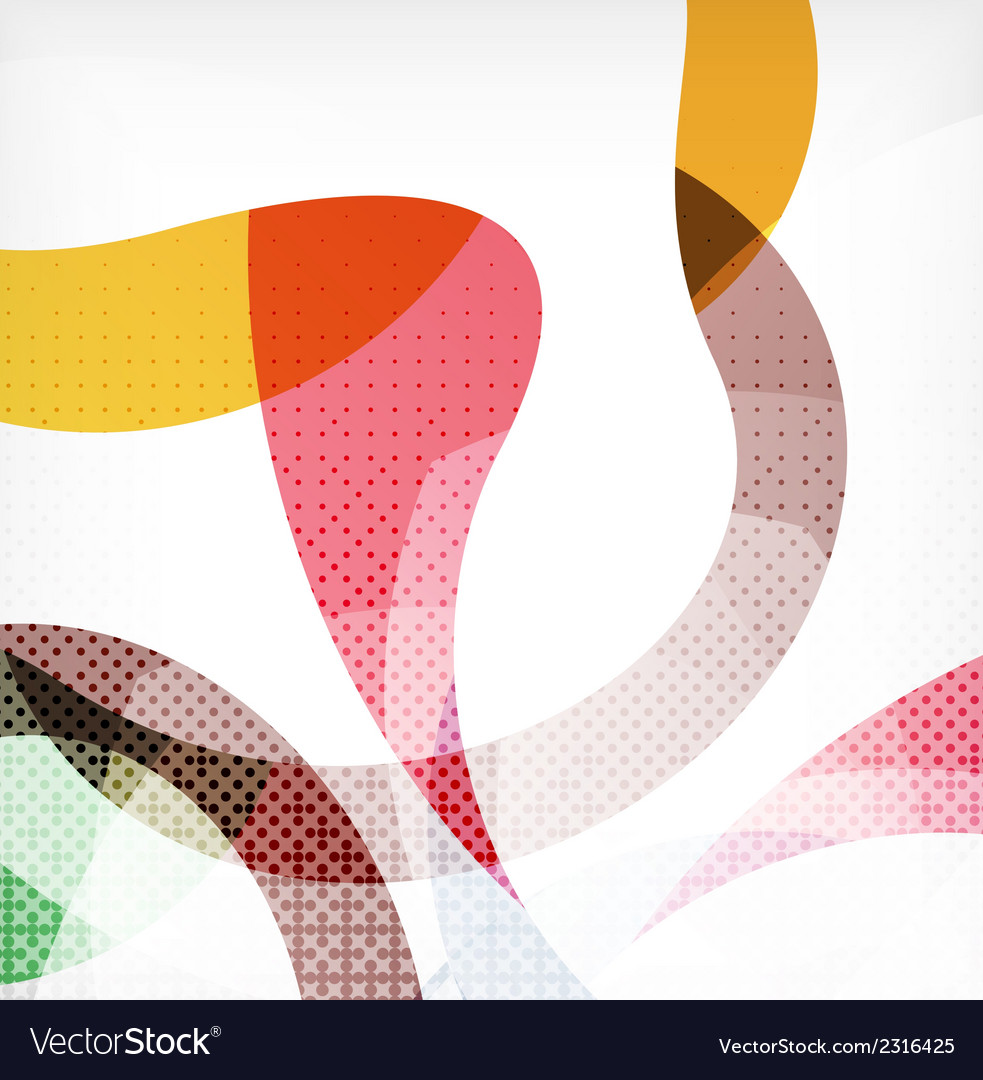 Colorful swirl wave lines vector | Price: 1 Credit (USD $1)