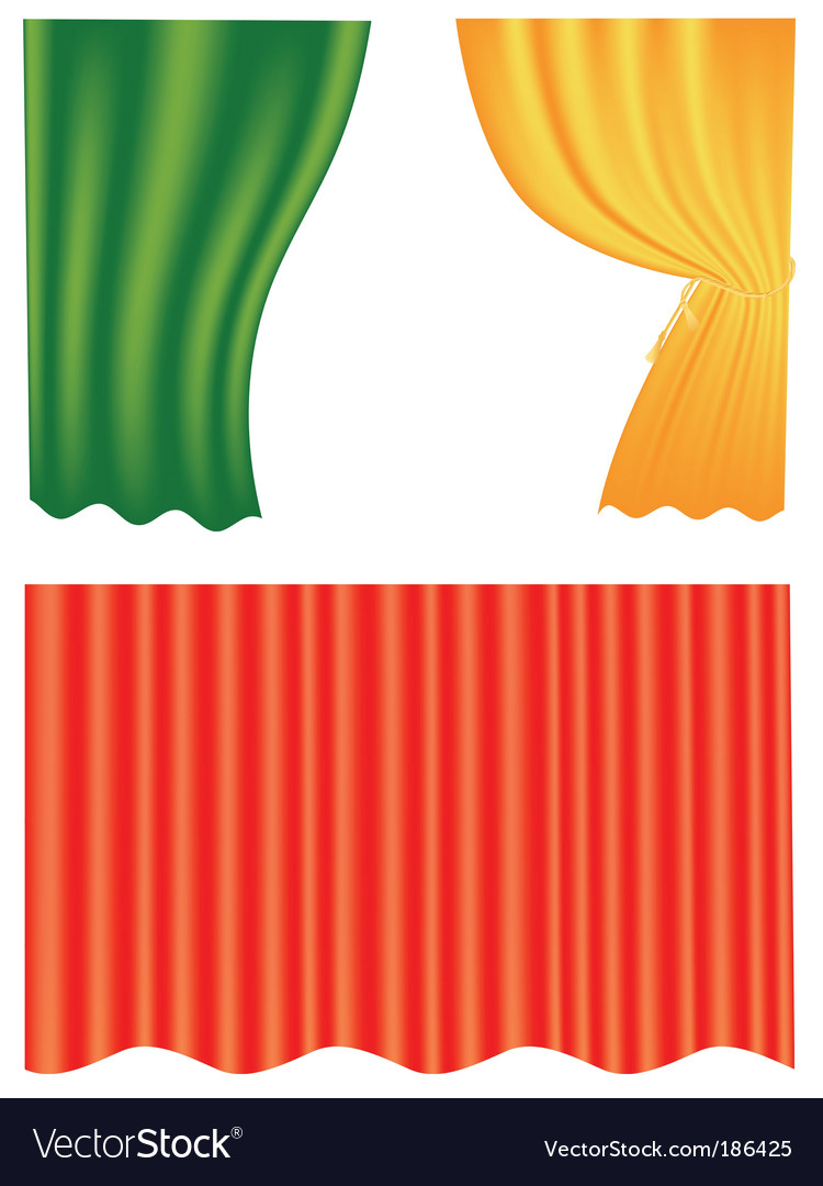 Curtain set vector | Price: 1 Credit (USD $1)