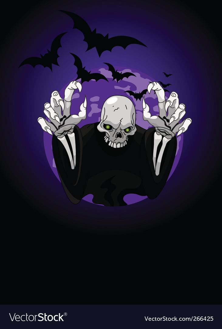 Halloween horrible grim reaper vector | Price: 3 Credit (USD $3)