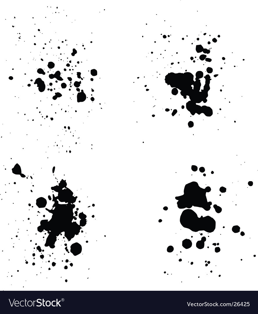 Ink splatters vector | Price: 1 Credit (USD $1)