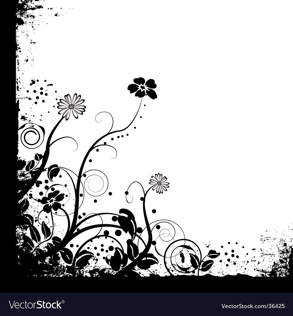 Just mono floral vector | Price: 1 Credit (USD $1)