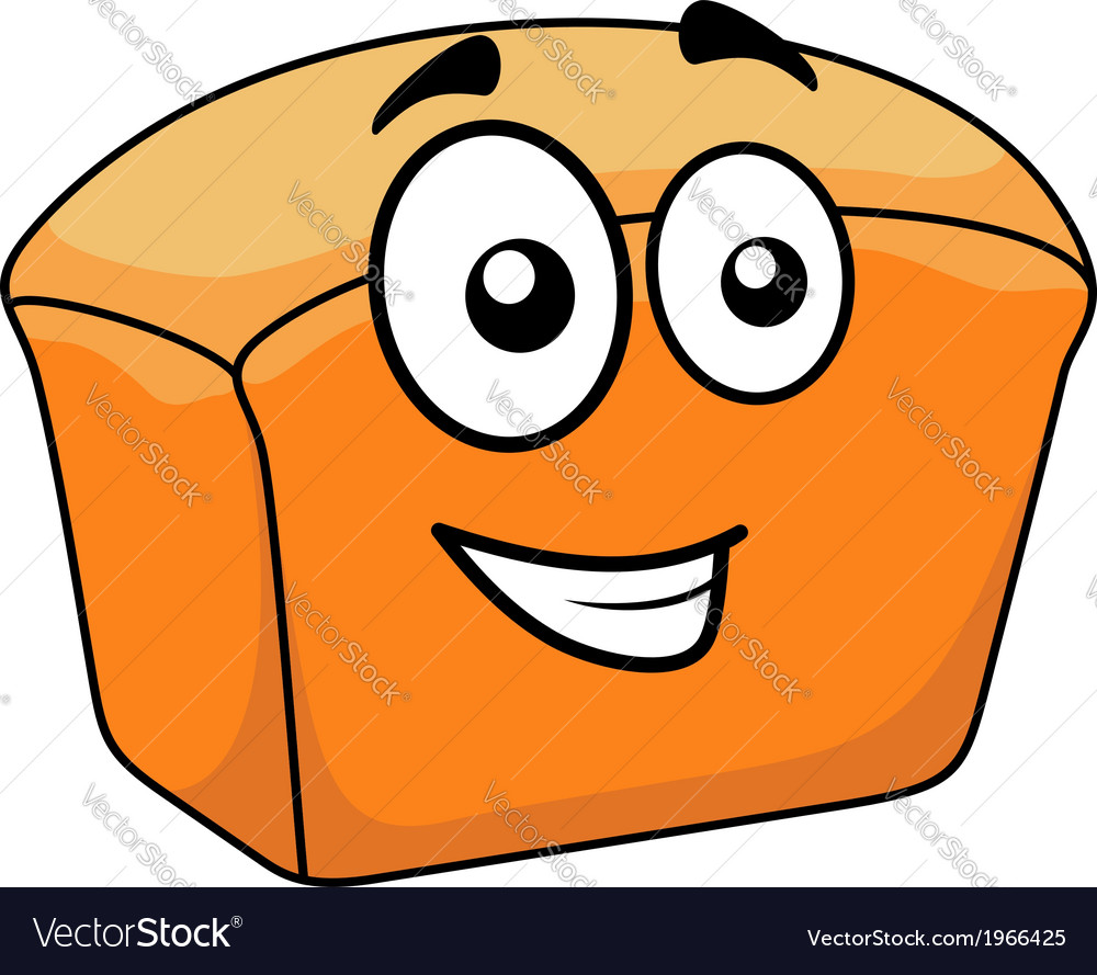 Loaf of crusty white bread with a happy face vector | Price: 1 Credit (USD $1)