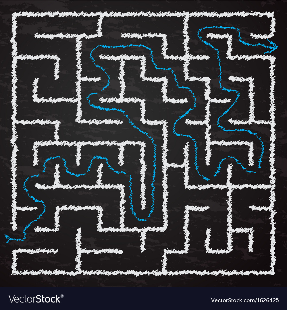 Maze vector | Price: 1 Credit (USD $1)