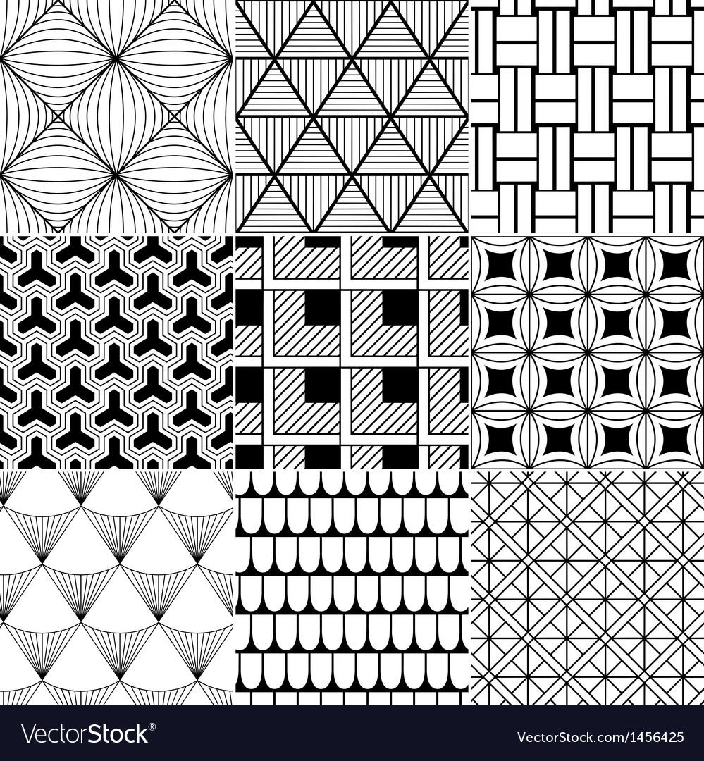 Monochrome abstract seamless background vector | Price: 1 Credit (USD $1)