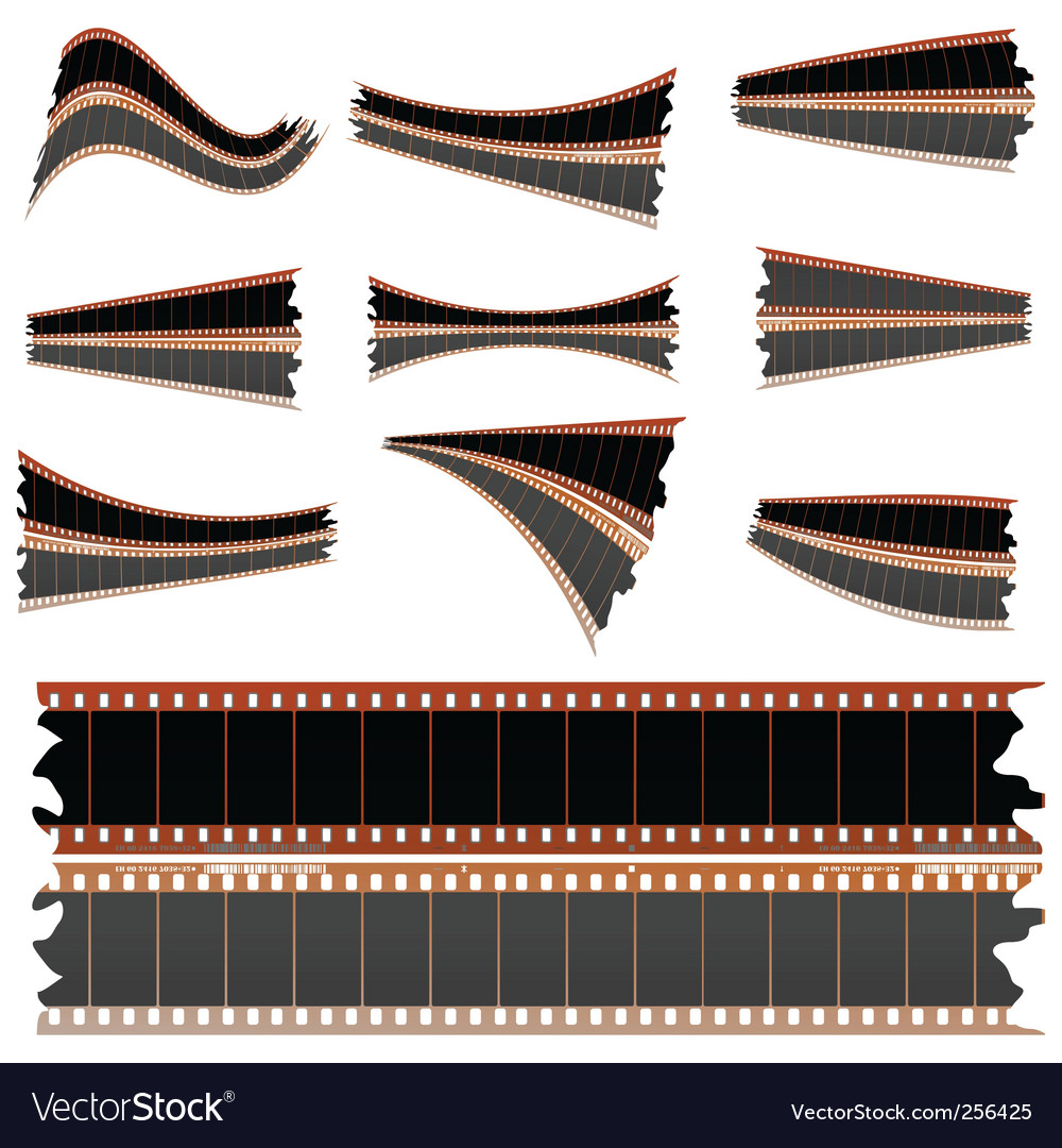 Negative film strips on white vector | Price: 1 Credit (USD $1)