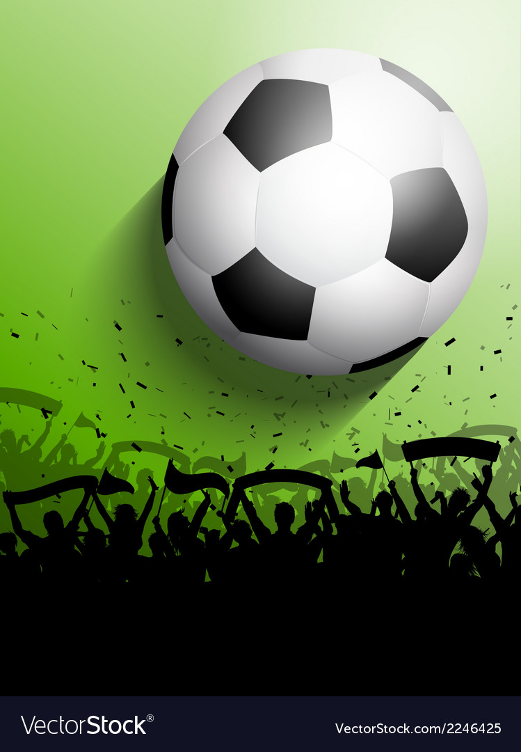 Silhouette of a crowd on a football soccer vector | Price: 1 Credit (USD $1)