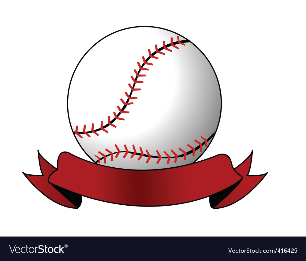 Softball image vector | Price: 1 Credit (USD $1)