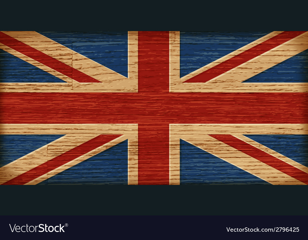 Uk flag on old wooden texture vector | Price: 1 Credit (USD $1)