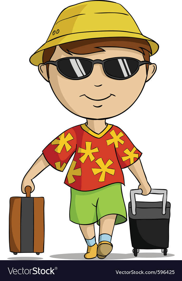 Vacation outfit man vector | Price: 3 Credit (USD $3)