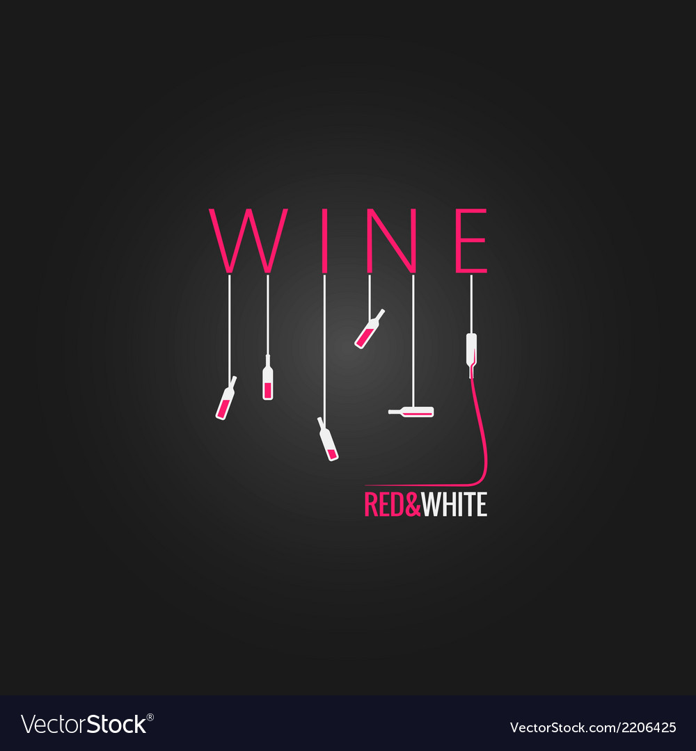 Wine concept design background vector | Price: 1 Credit (USD $1)