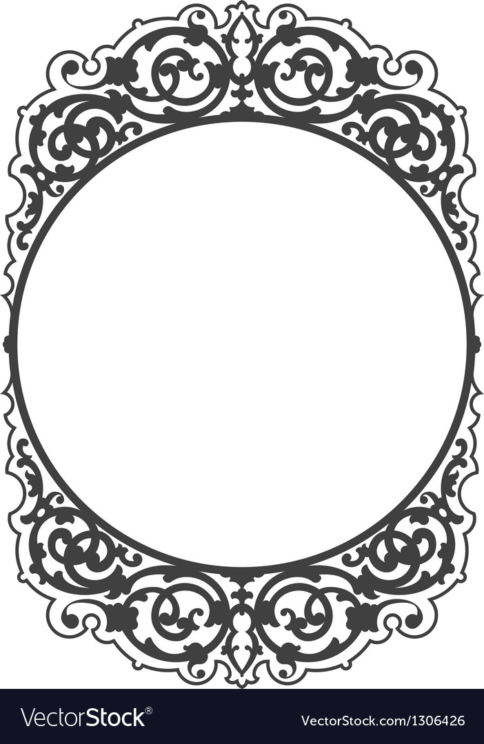 Antique decorative frame vector | Price: 1 Credit (USD $1)