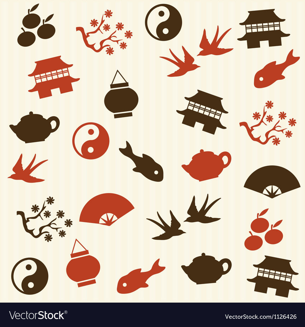 Asian seamless pattern vector | Price: 1 Credit (USD $1)