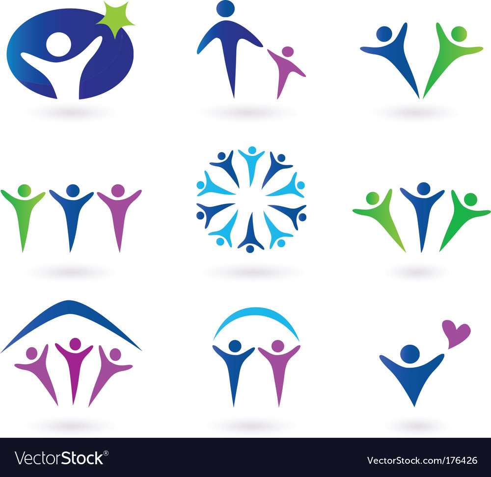 Community network and social icons vector | Price: 1 Credit (USD $1)