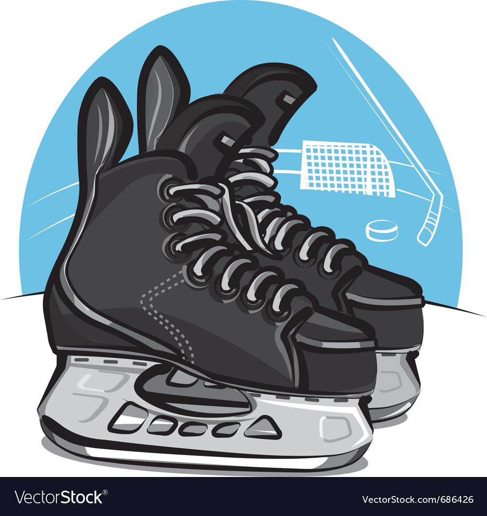 Hockey skates vector | Price: 3 Credit (USD $3)