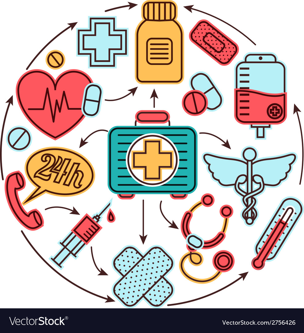 Medical icons concept vector   Price: 1 Credit (USD $1)