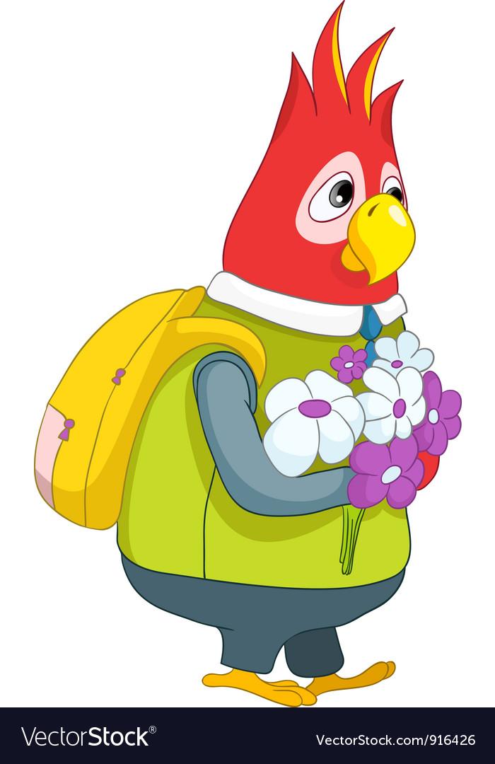 Parrot schoolboy vector   Price: 1 Credit (USD $1)